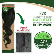 Eve Unprocessed Virgin Brazilian Remy Human Hair Weave Part Lace Closure Body Wave