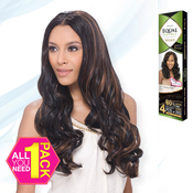 FreeTress Equal Double Synthetic Hair Weave Sway Curl 4Pcs