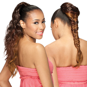 Freetress Equal Synthetic Hair Drawstring Braided Ponytail Fish Tail Girl