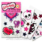 Girlie Nails Punky Girl 8 Pcs Temporary Tattoos