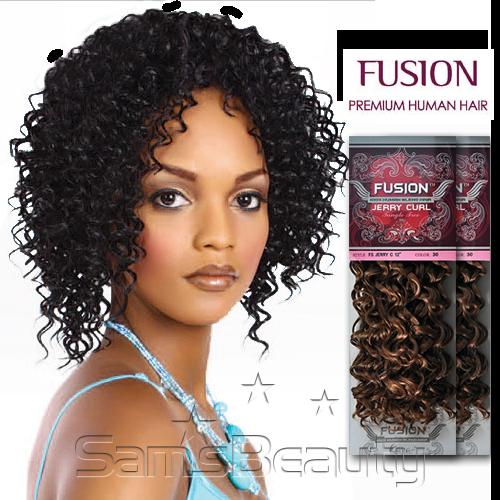 Human Hair Weave Kara Fusion Jerry Curl 47