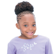 FreeTress Synthetic Kids Drawstring Ponytail Afro 4