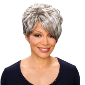 Foxy Silver Synthetic Hair Wig Deborah