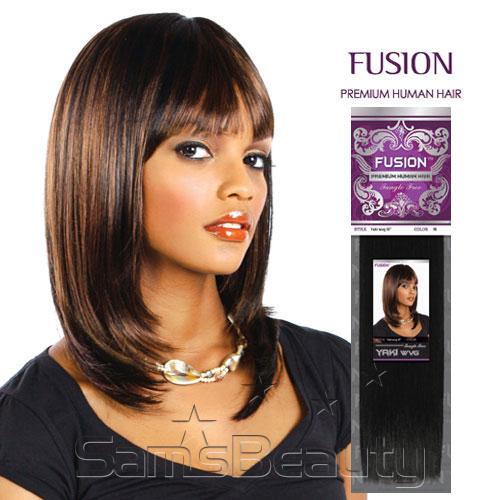 Human hair blend weave kara fusion yaki samsbeauty pmusecretfo Images