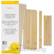 Gigi Natural Muslin Epilating Strips AMP; Applicators for All Soft Waxes