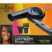 Golden Hot Professional 1875Watt Dryer With Styling PikClassic Design