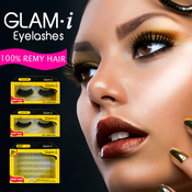 Glami 70 Individual Lashes Remy Hair Knot Free