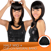 Synthetic Hair Clipon Natural Bang
