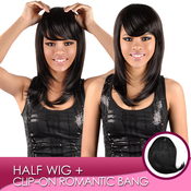 Synthetic Hair Clipon Romantic Bang