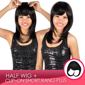 Synthetic Hair Clipon Short Bang Plus