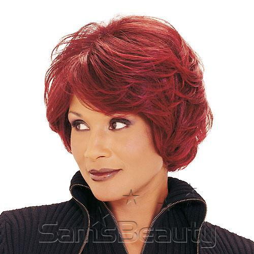 Human hair wig beverly johnson h129 samsbeauty hair color shown tp1321b 10 short straight bob with full swept bangs pmusecretfo Gallery