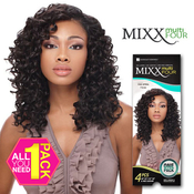 Human Hair Blend Weave Sensationnel Mixx Multi Four Free Spiral