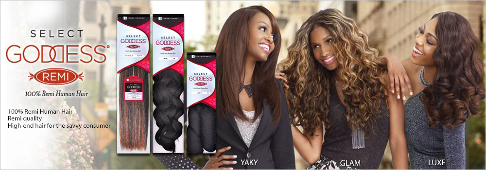 Remi Human Hair Weave Sensationnel Goddess Select Yaky 10 24