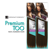 Human Hair Weave Sensationnel Premium Too Natural Yaki