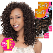 Human Hair Blend Weave Sensationnel Style360 Loose Deep 4 Pcs 1214