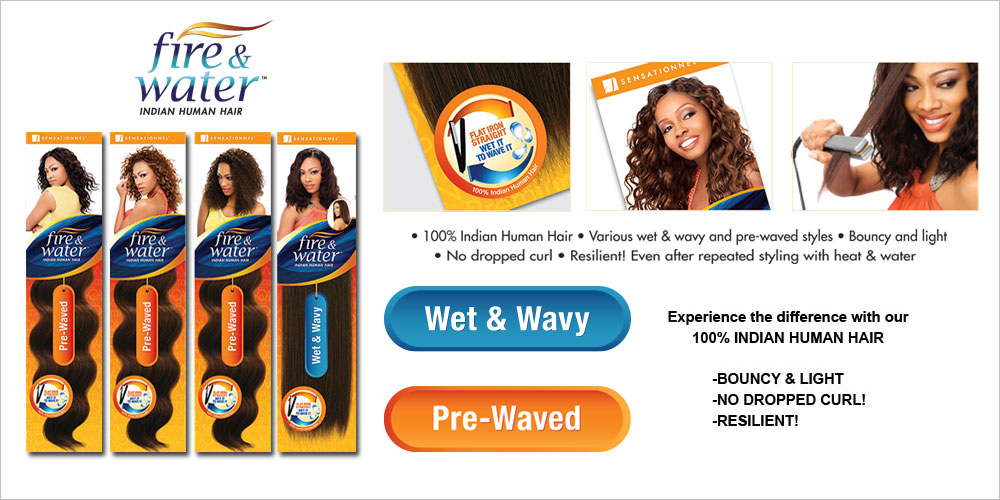 Sensationnel Fire And Water Indian Human Hair Weave Remy