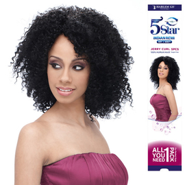 Indian Remi Hair Weave Harlem125 Wet Wavy 5 Star Jerry Curl 5pcs