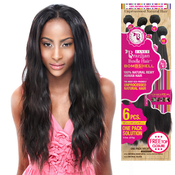 Janet Collection Unprocessed Brazilian Virgin Remy Human Hair Weave Bombshell Natural Weave 6Pcs