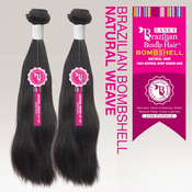Janet Unprocessed Brazilian Virgin Remy Human Hair Weave Bombshell Natural Weave