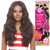 Janet Unprocessed Brazilian Virgin Remy Human Hair Weave Bombshell Natural Body 6Pcs Free Top Closure