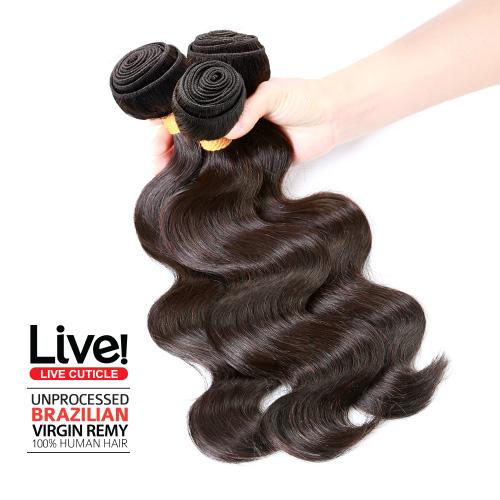 Live Unprocessed Brazilian Virgin Remy Human Hair Weave Body Wave 98