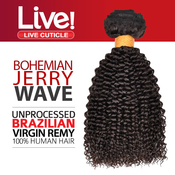 Live Unprocessed Brazilian Virgin Remy Human Hair Weave Bohemian Jerry Curl 1222