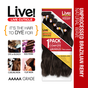 LIVE Unprocessed Brazilian Virgin Remy Human Hair Weave Natural Wave All in 1 Pack 6 Bundles  Free Closure