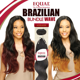Modelmodel Equal Synthetic Hair Weave Brazilian Bundle Wave Free Bang Piece