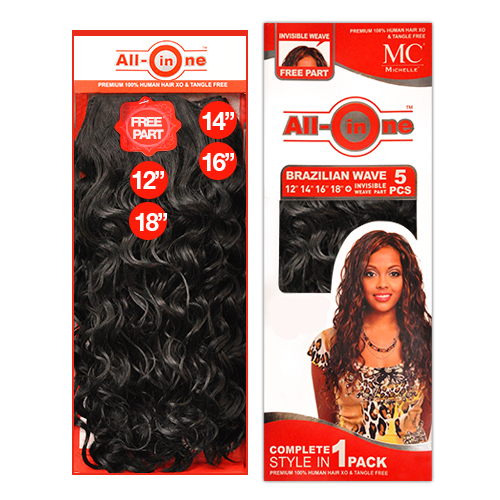 Michelle human hair blend weave all in one brazilian wave 5pcs 12 hair color shown 1 pmusecretfo Image collections