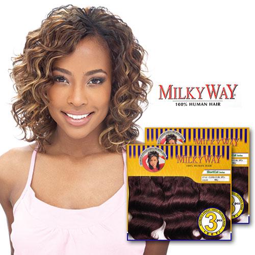 Swell Milkyway Human Hair Weave Cupid Curl 3Pcs Samsbeauty Hairstyles For Men Maxibearus