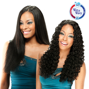 ModelModel Indian Remi Human Hair Weave Remist WetAMP;Wavy Deep Kiss 4Pcs