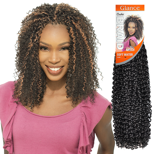 Crochet Hair Model Model : ModelModel Synthetic Hair Crochet Braids Glance Soft Water ...