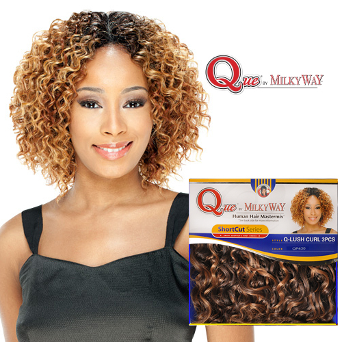 Milky way que human hair blend weave shortcut series lush curl milky way que human hair blend weave shortcut series lush curl 3pcs samsbeauty pmusecretfo Gallery