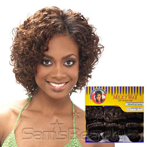 Human hair weave milky way short cut series new deep 3pcs samsbeauty hair color shown 30 pmusecretfo Gallery