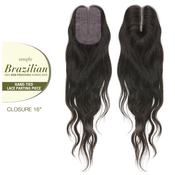 Outre Unprocessed Brazilian Virgin Human Hair Weave Simply HandTied Lace Parting Closure 16