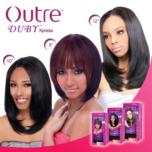 Outre Human Hair Blend Weave Duby Xpress 12