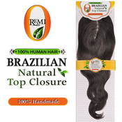 ORemi Unprocessed Brazilian Virgin Remy Human Hair Weave Natural Top Closure Natural Wave 12