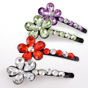 Pair of Colorful Flower Hair Pins