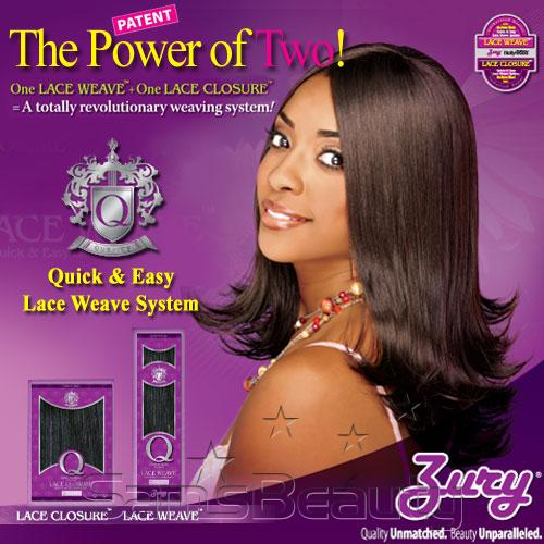 Zury Human Hair Blend Q Lace Closure 10