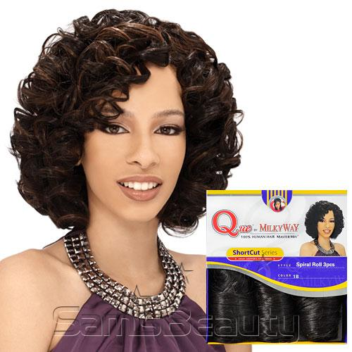 Milky Way Que Human Hair Blend Weave Shortcut Series Spiral 3pcs Samsbeauty