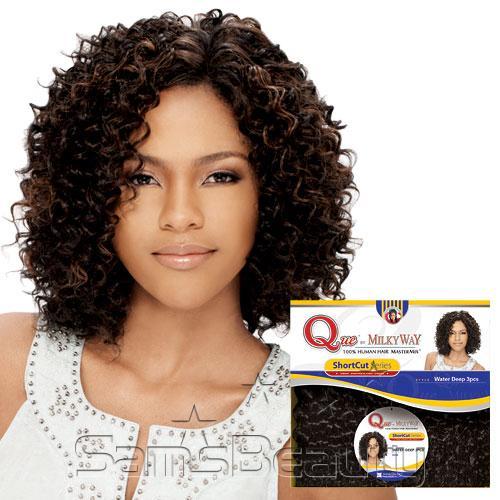 Human Hair Blend Weave Milky Way Que Shortcut Series Water Deep Compeive Price Latch Hook