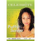 Celebrity Synthetic Hair Braids Puffy Screw Braid 36 S