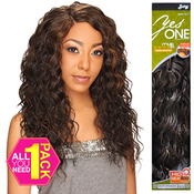 Synthetic Hair Weave Royal Zury YesOne Deep Spanish 5 Pcs 1218 and Invisible Weave Part