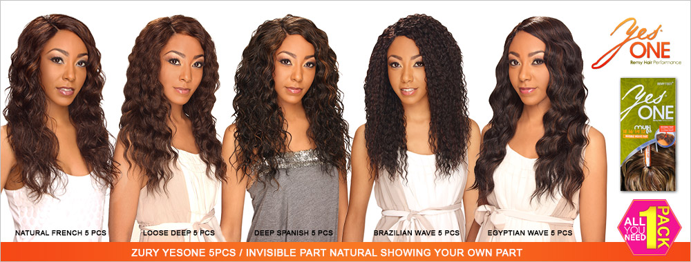 Synthetic Hair Weave Royal Zury Yesone Egyptian Wave 5 Pcs 12 18