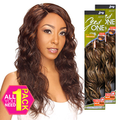 Synthetic Hair Weave Royal Zury YesOne Natural French 5 Pcs 1218 and Invisible Weave Part