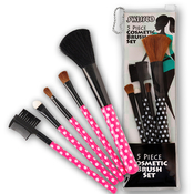 Swissco 5 Piece Cosmetic Brush Set