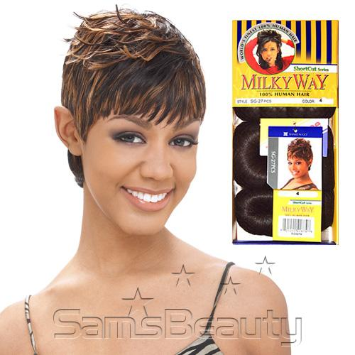 Human Hair Weave Milky Way Short Cut Series Sg 27pcs Samsbeauty