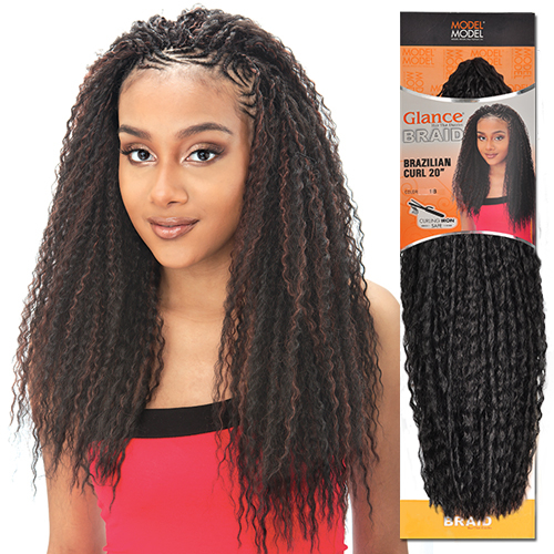 Crochet Hair Model Model : ModelModel Synthetic Hair Crochet Braids Glance Brazilian Curl ...