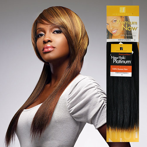 Sensationnel Human Hair Weave Premium Now New Yaki Platinum Clearance