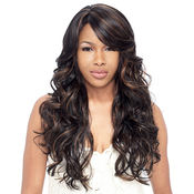 Synthetic Hair Wig Model Model Equal Full Cap Band Water Lily
